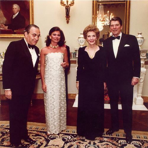 Vasco e Malu com Nancy e Ronald Reagan
