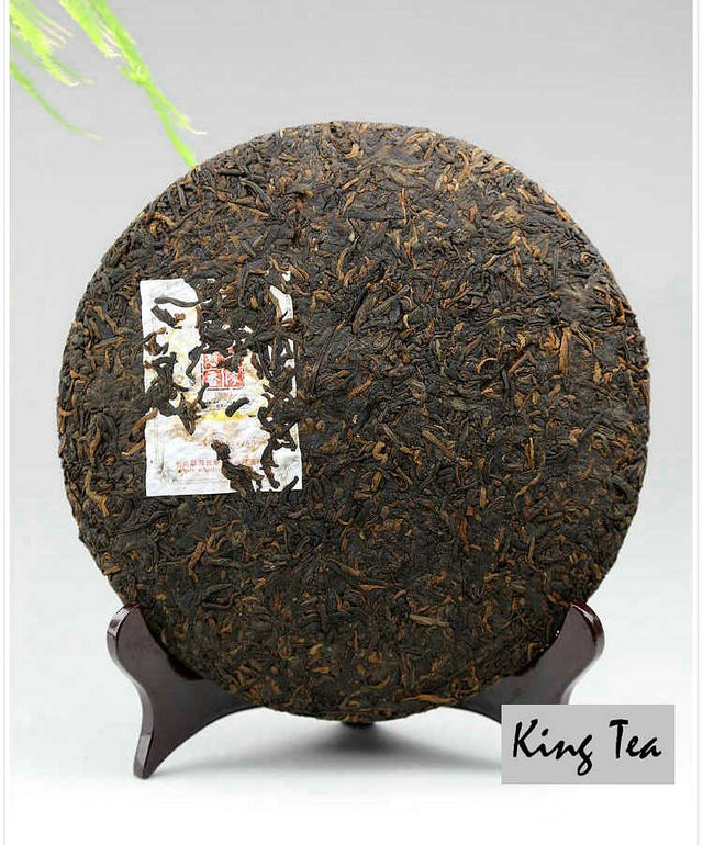 Free Shipping 2012 Lao Man'E The Older The Better Cake 357g China YunNan MengHai Chinese Puer Puerh Ripe Tea Cooked Shou Cha Premium