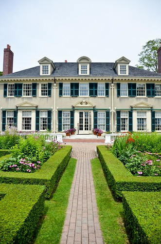 Formal Garden - the house