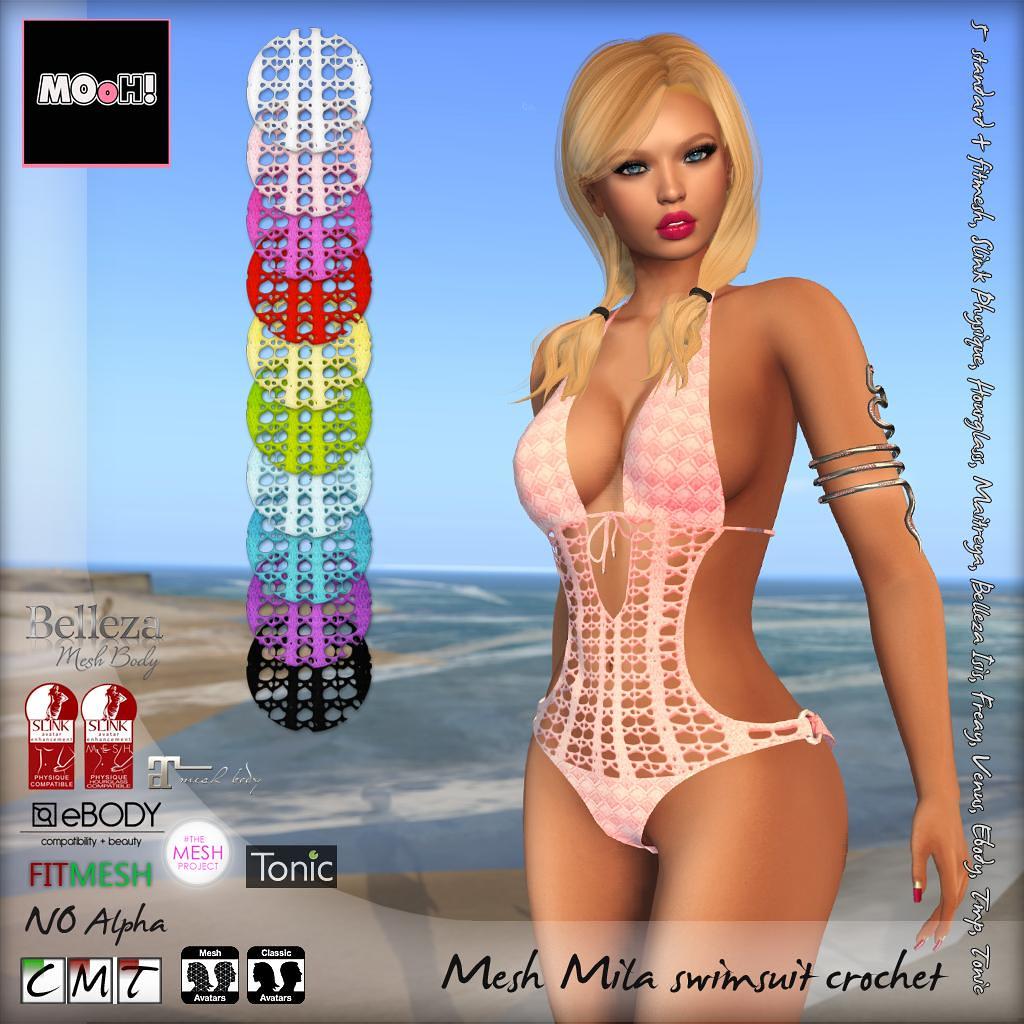 Mila swimsuit crochet - SecondLifeHub.com