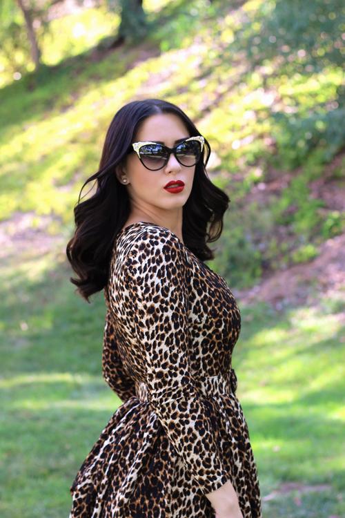 a597f57ac0 Vixen by Micheline Pitt Troublemaker Swing Dress in Leopard Print Southern  California Belle