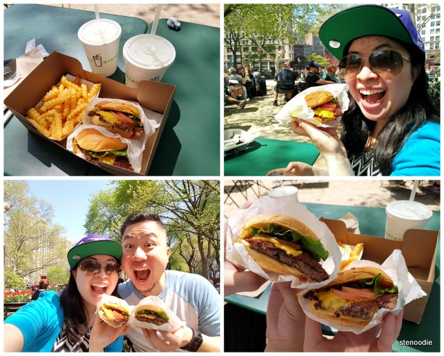 Shake Shack burgers in New York City