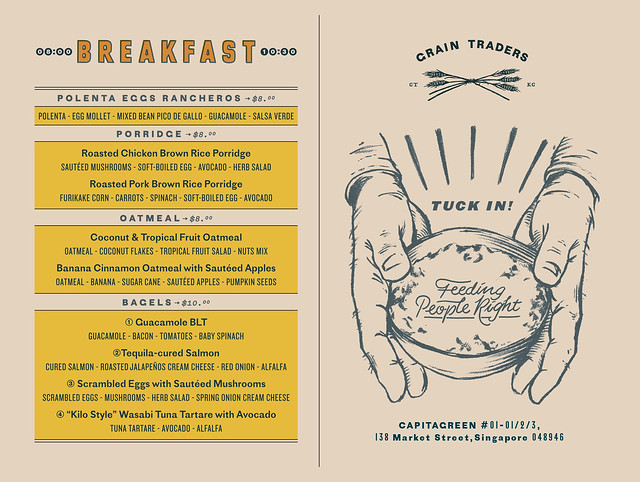 Grain Traders Menu Breakfast