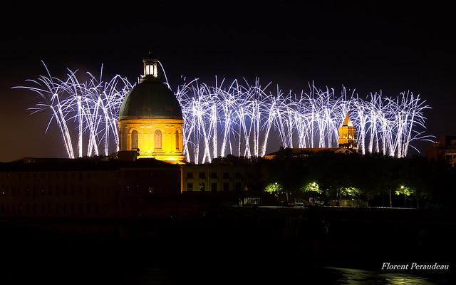 fireworks Toulouse, July 14th, 2017