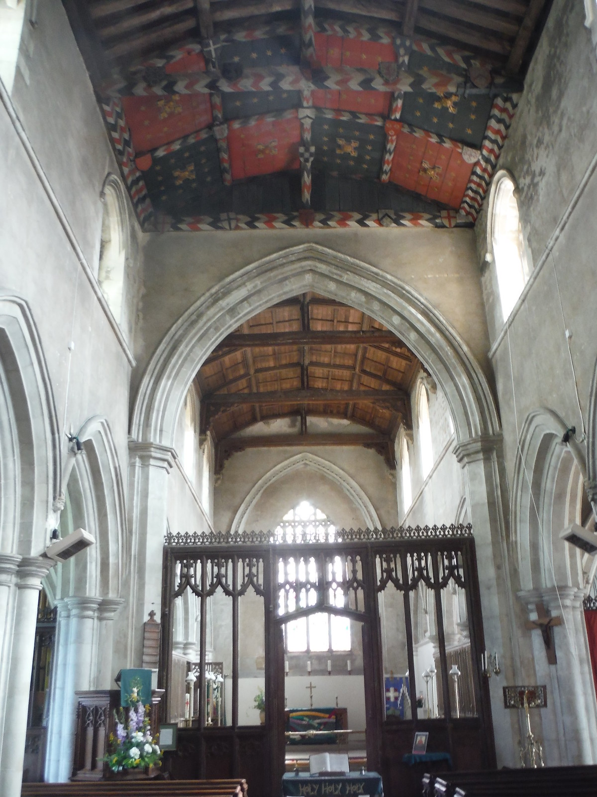 Nave and Rood Screen, All Saints' Church, Shillington SWC Walk 233 - Arlesey to Letchworth Garden City