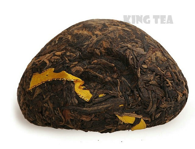 Free Shipping 2006 XiaGuan Golden Ribbon Boxed Tuo Bowl 100g * 4= 400g YunNan MengHai Organic Pu'er Raw Tea Weight Loss Slim Beauty Sheng Cha