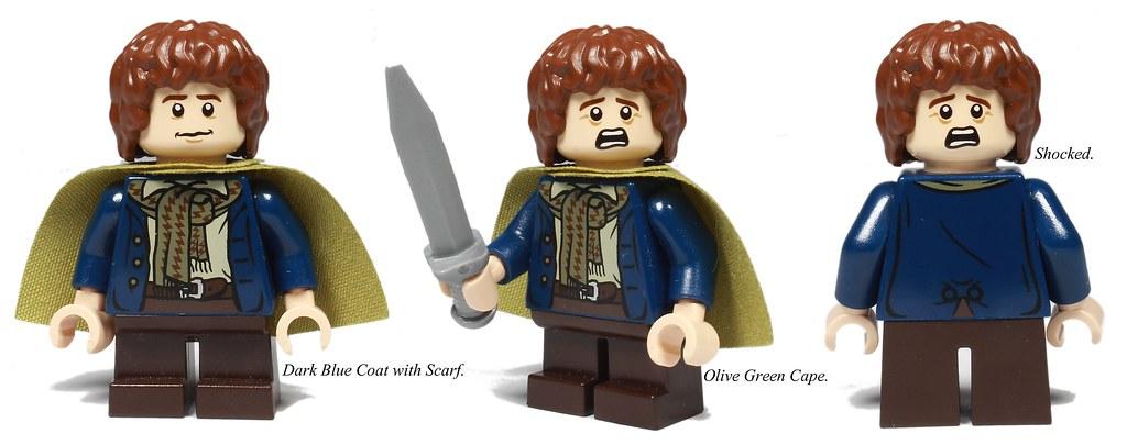 PEREGRIN TOOK THE HOBBIT LEGO PIPPIN SWORD minifigure LOTR set 9473 moria