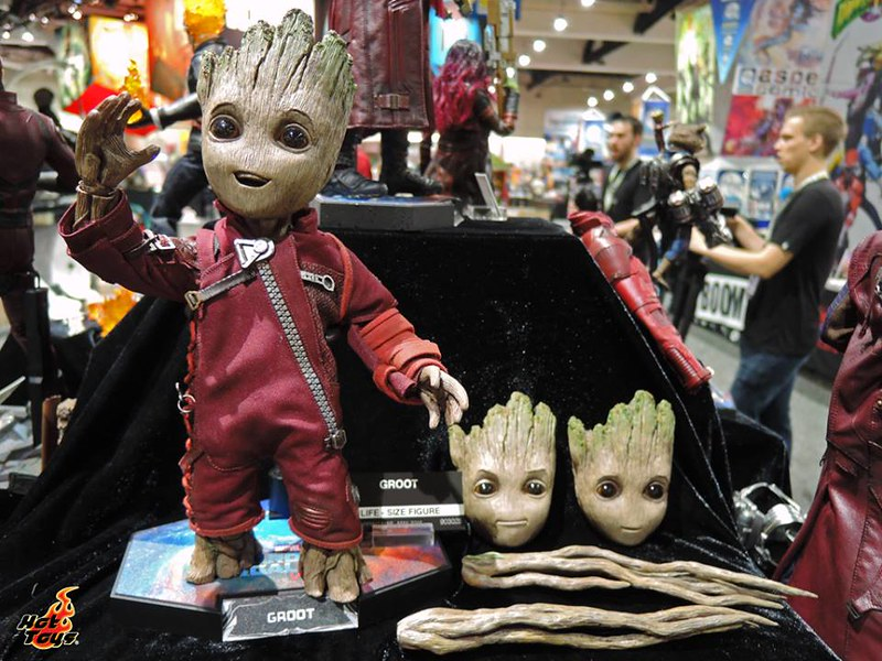 Hot Toys BABY GROOT Guardians of the galaxy vol2 SDCC2017