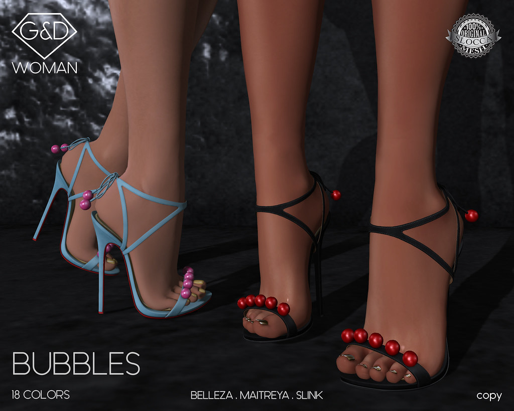 G&D Sandals Bubbles 01 adv - SecondLifeHub.com