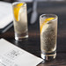 Shots of DrunkUpNY - Balsam Magnolia Blossom Oolong New York Aperitif Wine, Perrier, lemon