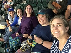 Night out at Stitch n Pitch at SafeCo Field cheering on the Seattle Mariners. July 20, 2017.