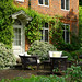 The terrace at Ayot Manor