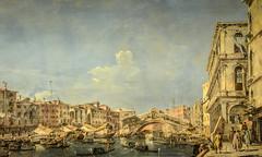 Francesco Guardi ? Museu Calouste Gulbenkian. The Grand Canal with the Rialto Bridge (c. 1762-1763)
