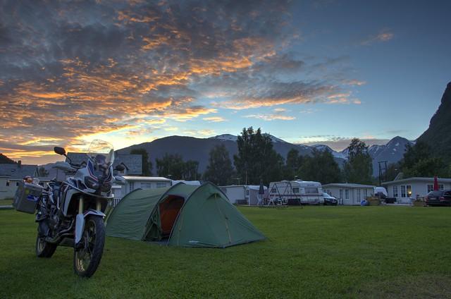 camping at norddal