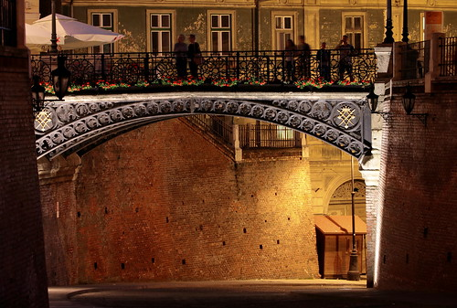 sibiu romania ponte bridge brucke notturno night