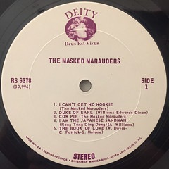 THE MASKED MARAUDERS:THE MASKED MARAUDERS(LABEL SIDE-A)