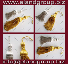 Silver and Gold Bullion Wire Tassels