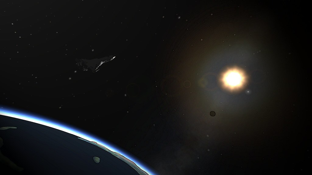 SSTO in orbit... Screenshot Re-imagined for qzgy.