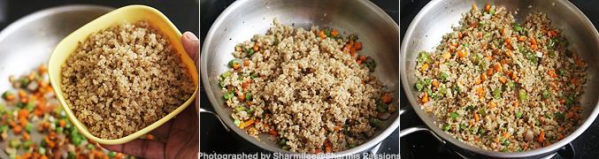 How to make Quinoa fried rice recipe - Step1