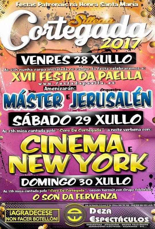 Silleda 2017 - Festas patronais e XVII Festa da Paella en Cortegada - cartel