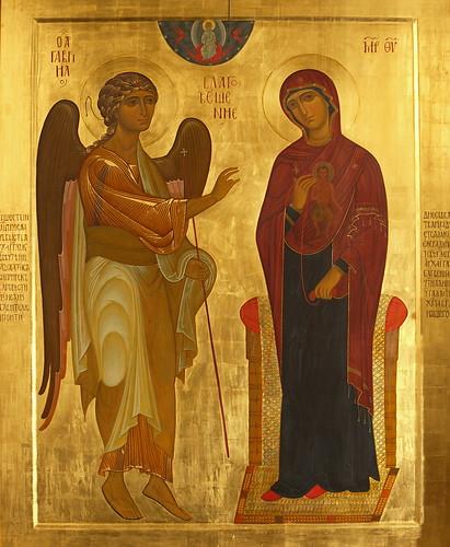 Список чудотворной Устюжской иконы Благовещения в Святых Горах