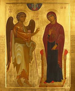Список чудотворной Устюжской иконы Благовещения в Святых Горах. Устюжское чудо