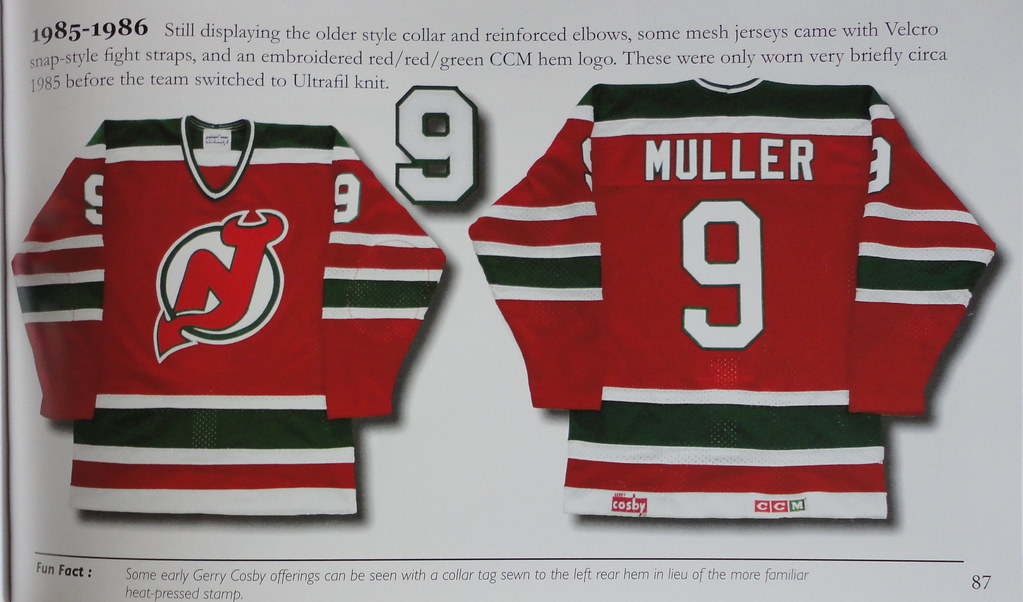 1985-86 Kirk Muller New Jersey Devils Away Jersey Book Listing