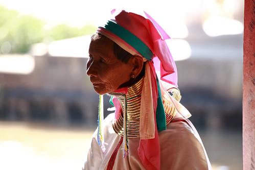 A Kayan Lahwi woman in a village near Inle Lake,Shan State,Myanmar