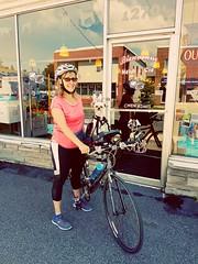 Johanne est venu nous montrer son chien en vélo avec le Buddyrider