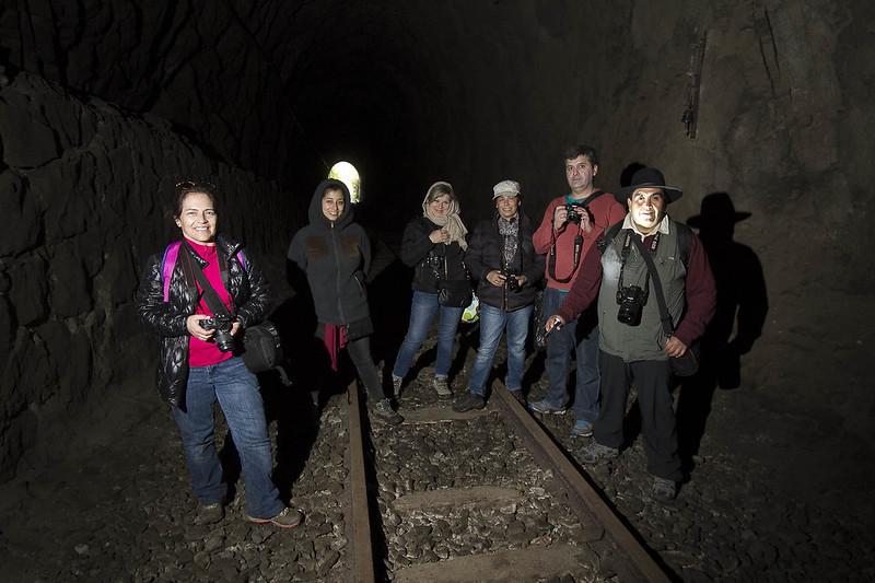 en el túnel ferroviario