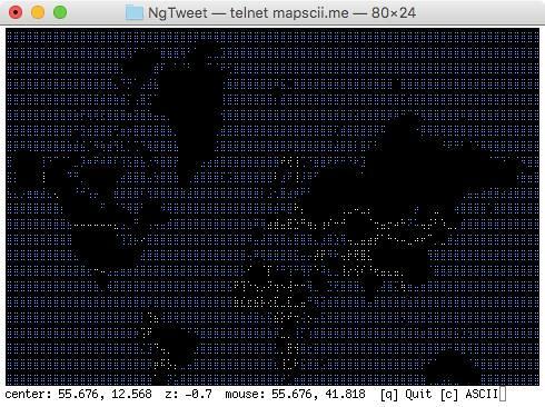 MapSCII World Zoom