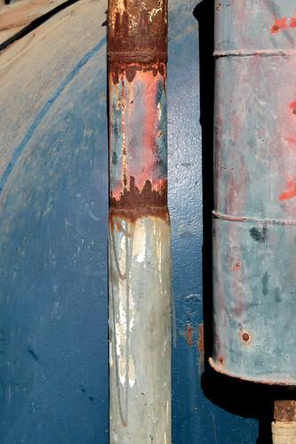 podor senegal sahel africa westafrica decay blue rust rusty tube machine picmonkey
