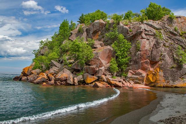 Black Sand Beach Lake Superior