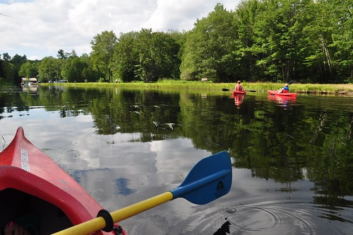 Bon Echo Creek: shallow and peaceful