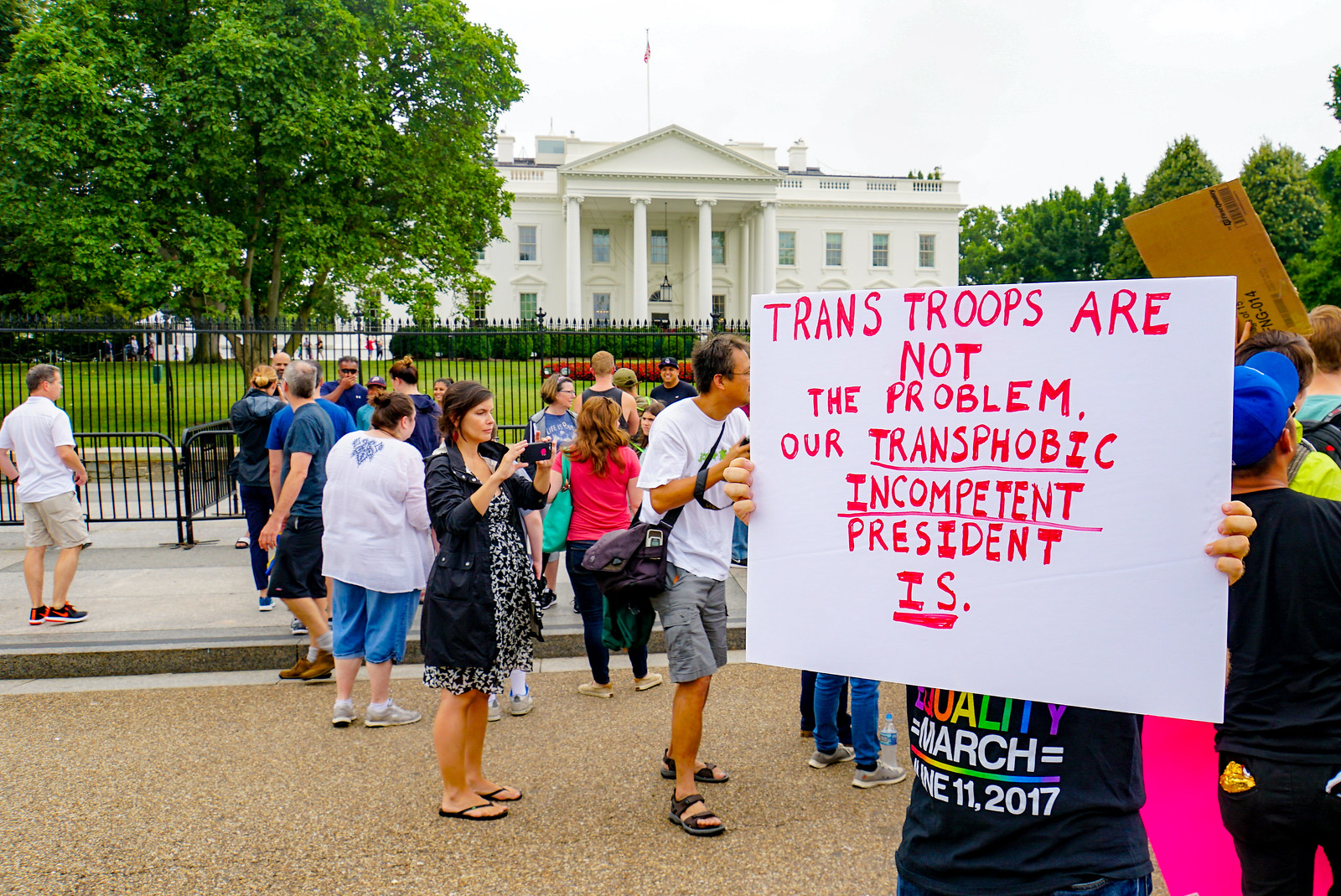 2017.07.29 Stop Transgender Military Ban, Washington, DC USA 7712