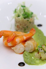 Fine Herbs Poached River Prawn