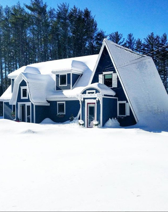 A 800 sq.ft snow decked A-frame house