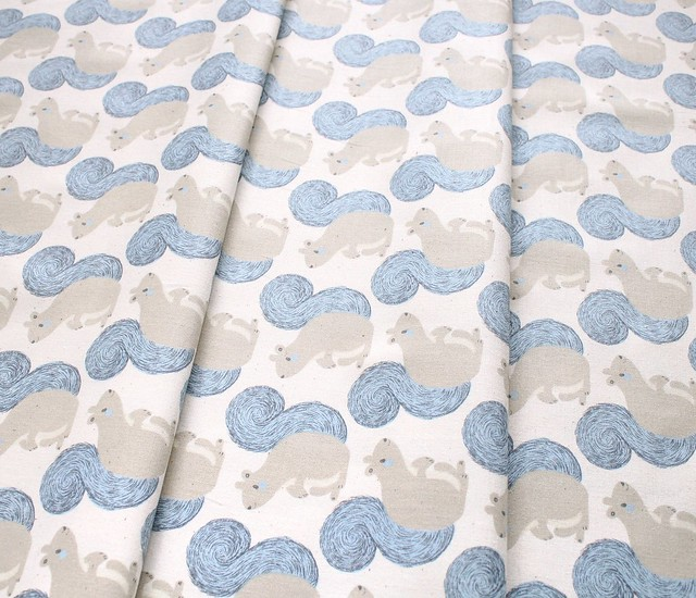 COTTON+STEEL Magic Forest 2056-02 Squirrels Neutral