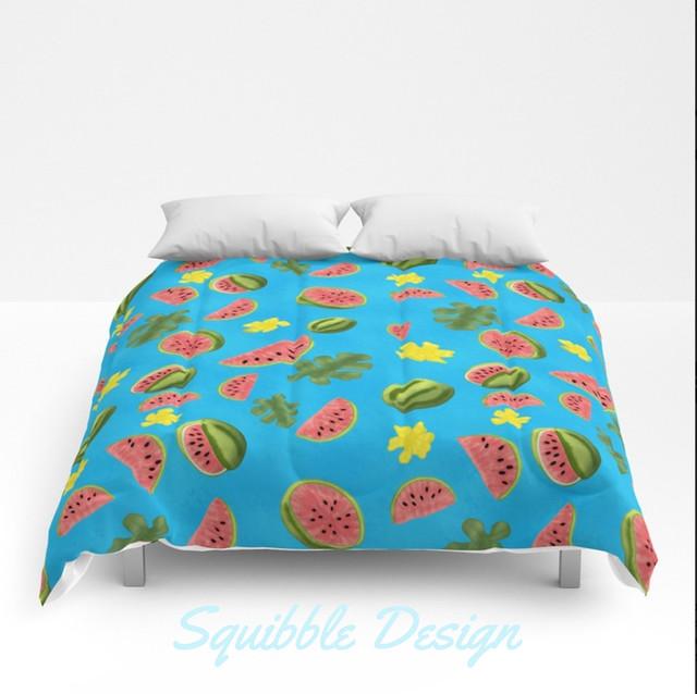 squibbledesignwatermeloncomforter