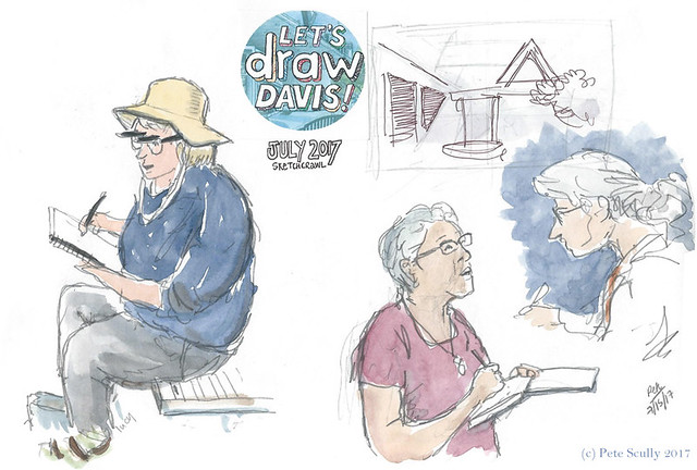 Let's Draw Davis people july 2017
