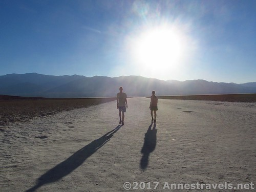 Evening at Badwater Flats in Death Valley, California
