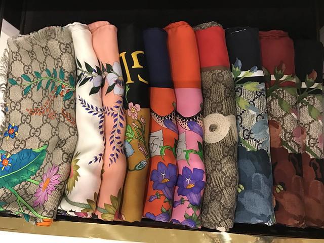 Gucci colorful shawls
