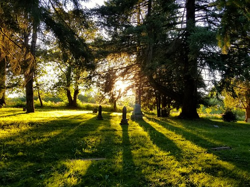 sunset graveyard resting
