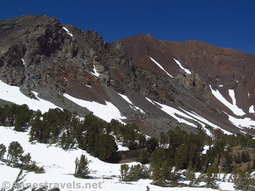 Some of the peaks near K19. I think Moat Lake is up there somewhere... Virginia Lakes Trail in the Hoover Wilderness of California