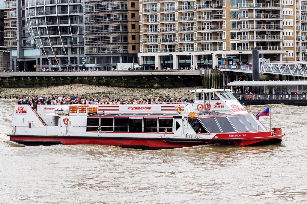 Because public transport was diverted away from where I was going this is the best I could do, a boat on a river.