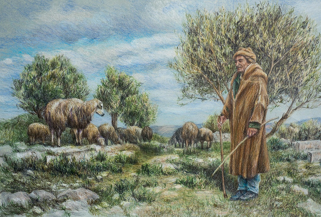 Tending Sheep by the Roman Ruins