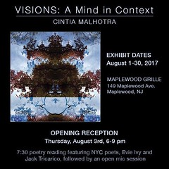 Exhibit opening August 3rd... #exhibit #newjersey #artexhibit #maplewoodnj