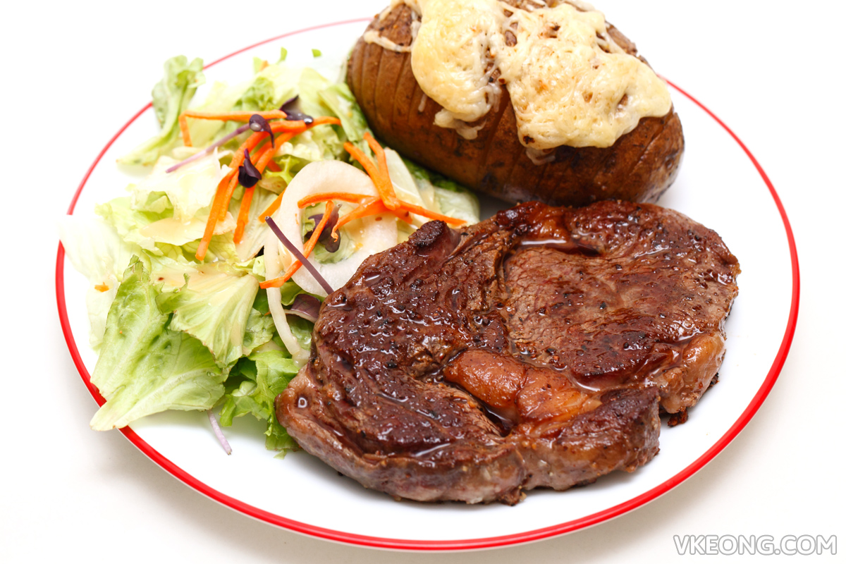 Steak Salad Potato Dinner