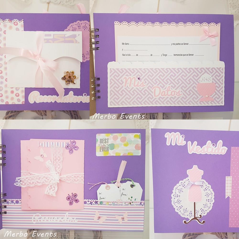 libro de firmas comunin lila