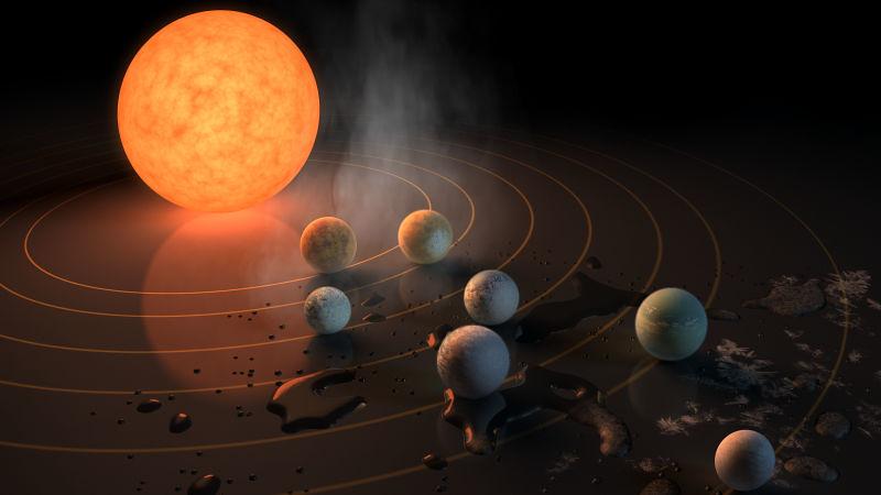 Ilustrasi 7 planet.
